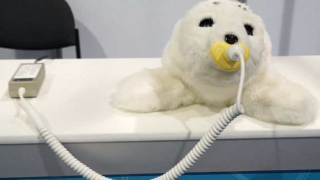 Meet the robotic cat for the elderly - BBC News