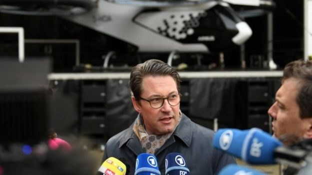 El ministro de Transporte alemán, Andreas Scheuer