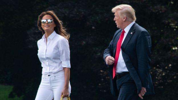Melania Trump y el presidente Donald Trump