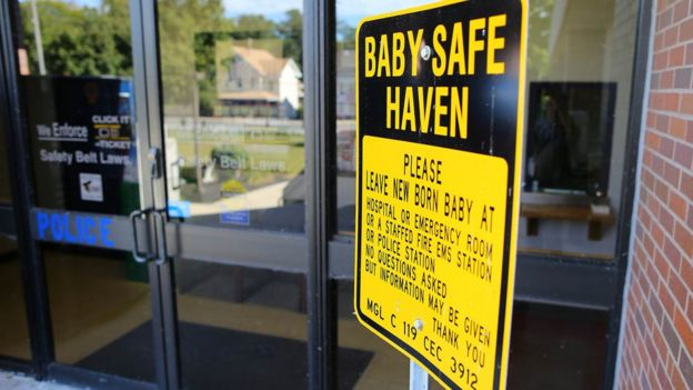A safe haven baby sign