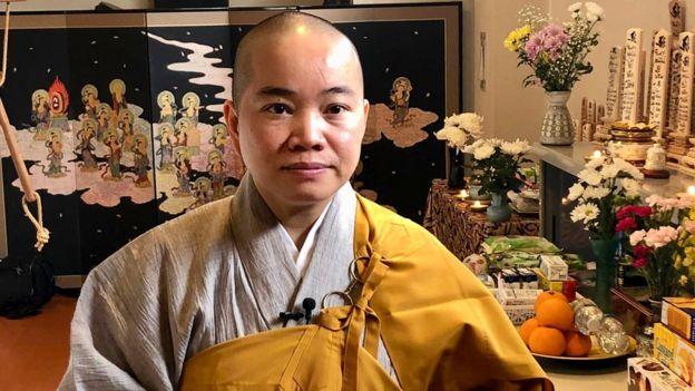 Sư Cô Thích Tâm Trí, Hội trưởng Hội Phật Tử Việt Nam tại Nhật Bản.