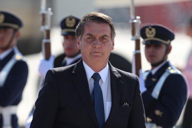 Chegada de Bolsonaro ao Chile em 21 de março