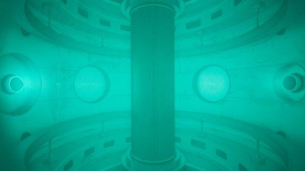 Inside nuclear fusion reactor