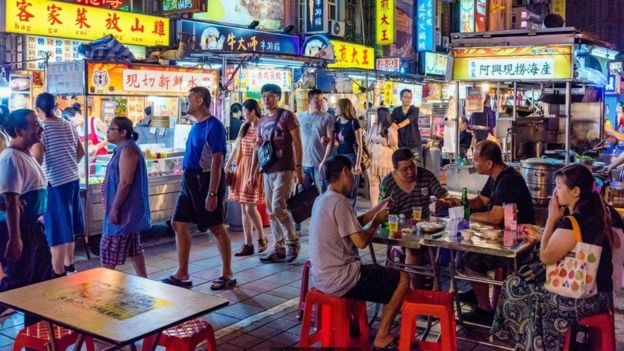 Mercado noturno em Taiwan