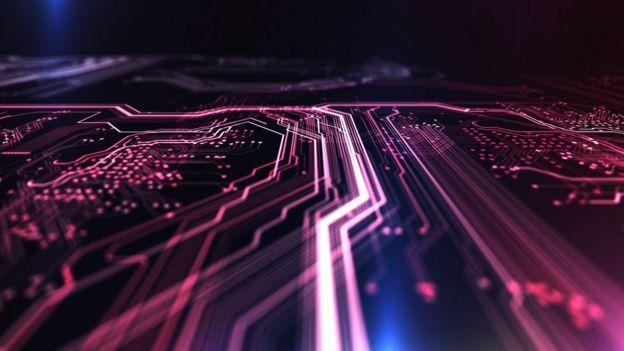 Um circuito de computador imaginado