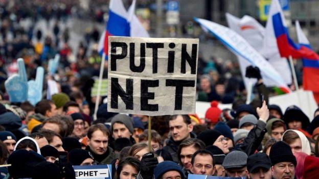 Protesto na Rússia