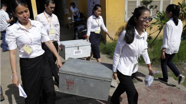 Pemilihan umum Kamboja telah dikritik oleh PBB sebagai cacat mendasar. (bbc.co.uk/epa)