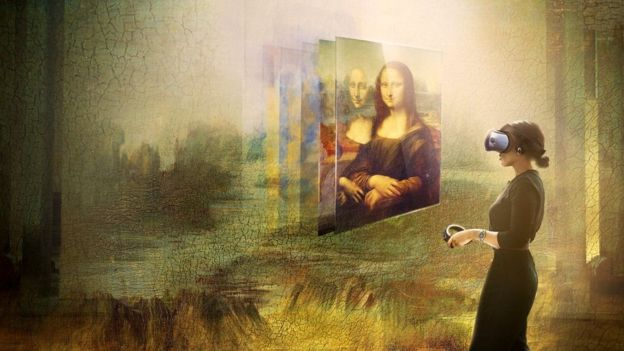 An artist's impression of the virtual reality project Mona Lisa: Beyond the Glass