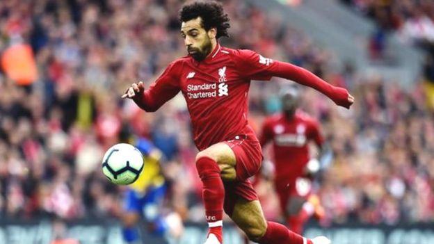 L'égyptien Mohamed Salah a marqué le troisième but de Liverpool face à Southampton ( victoire 3-0)