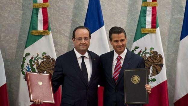 François Hollande y Enrique Peña Nieto