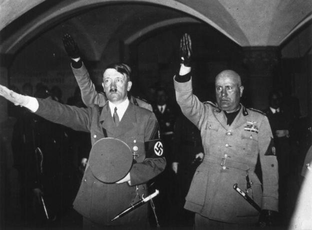 हिटलर और मुसोलिनी