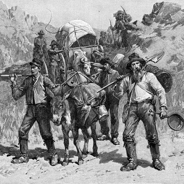 Prospectores llegando a California