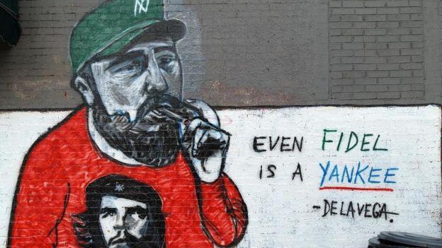 Mural de Fidel Castro em Nova York