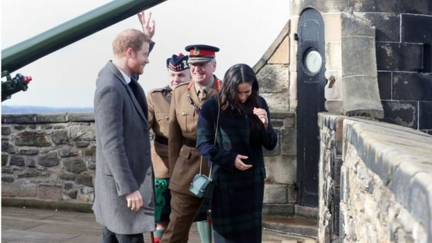 Harry and Meghan before the One O'Clock gun was fired
