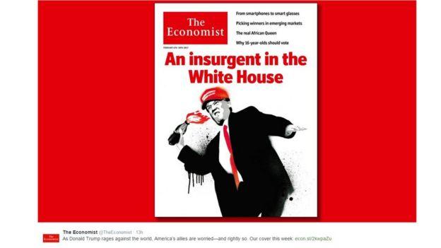 """Portada muestra Donald Trump lanzando una bomba molotov debajo de las palabras """"Un insurgente en la Casa Blanca"""""""