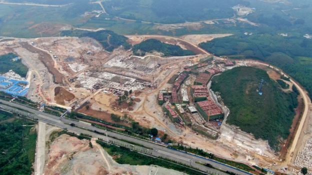 Huawei'nin Guizhou'da inşası devam eden veri depolama merkezi