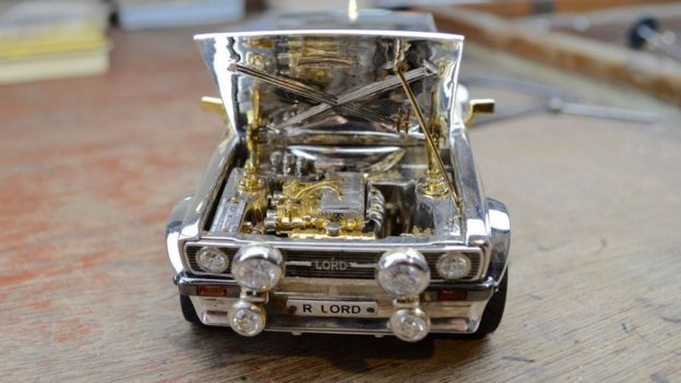 eb95765c5 Jewel-encrusted Ford Escort model to raise money for charity - BBC News