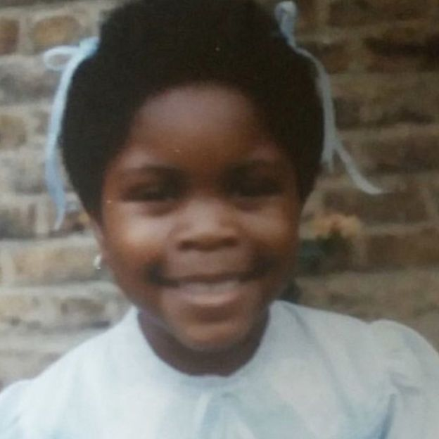 Gina Atinuke Knight as a young girl