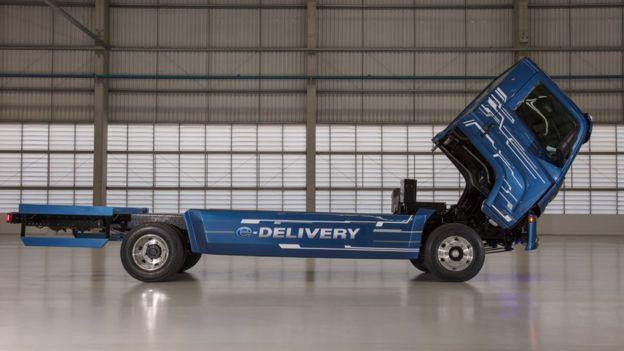 Modelo do caminhão elétrico e-Delivery