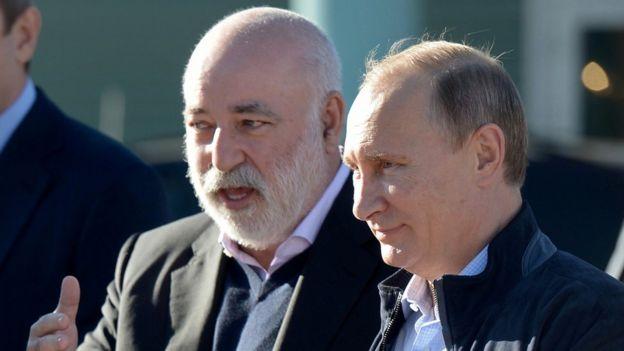 Фото 2014 года. Президент России Владимир Путин и Виктор Вексельберг
