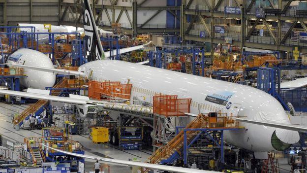美國西雅圖的波音公司埃弗雷特工廠