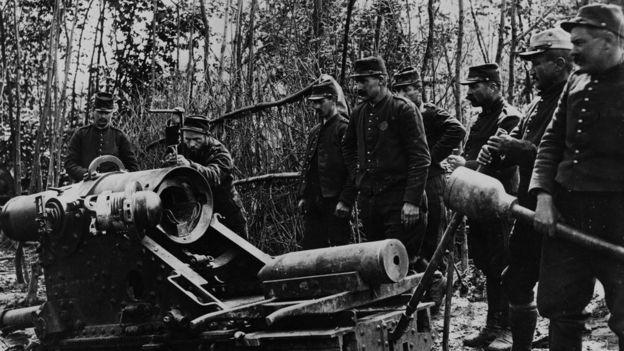 Soldados franceses durante la I Guerra Mundial