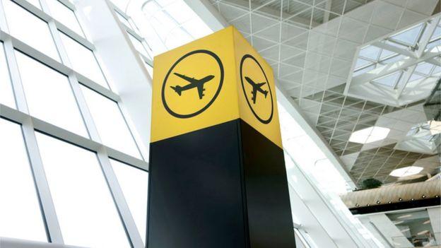 Señal de aeropuerto.
