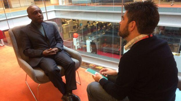 Carl B. Greenidge en entrevista con BBC Mundo.
