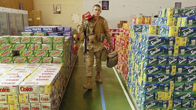 A US soldier at Al Asad in 2004