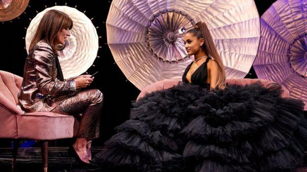 Davina McCall and Ariana Grande