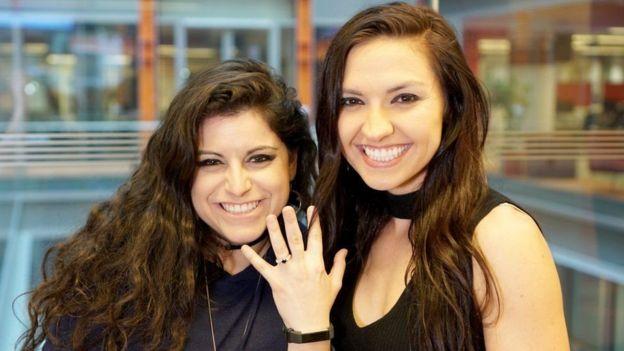 Chrissy Chambers e a noiva Bria Kam