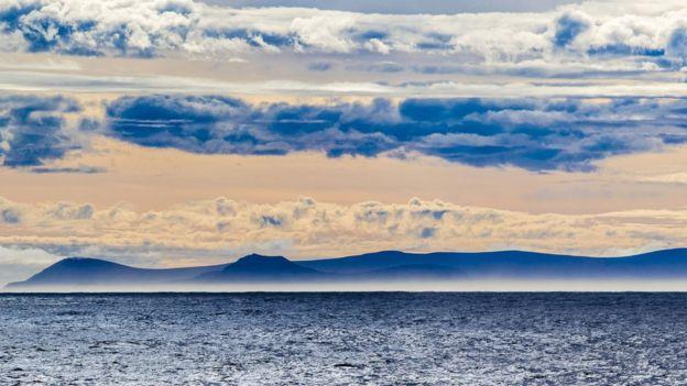 Vista de la Isla de los Estados, en Argentina.