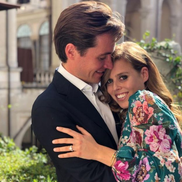 Princess Beatrice and Edoardo Mapelli Mozzi pose for official engagement photos!