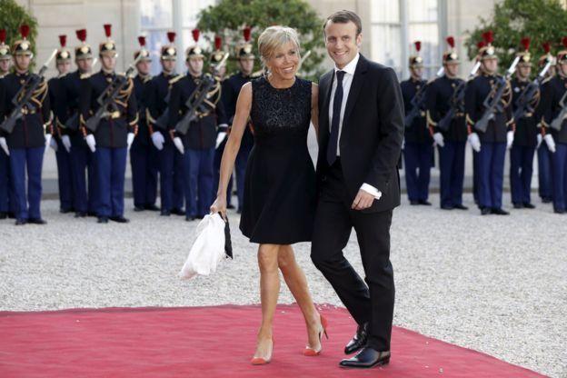 馬克龍和妻子