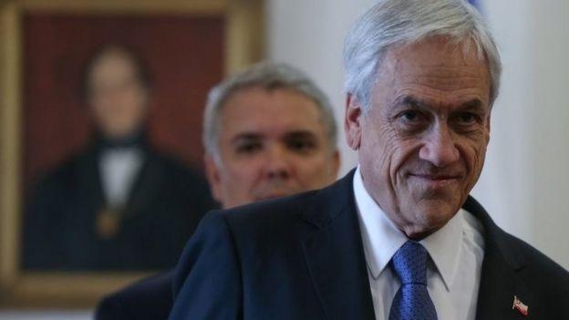 Sebastián Piñera em evento oficial