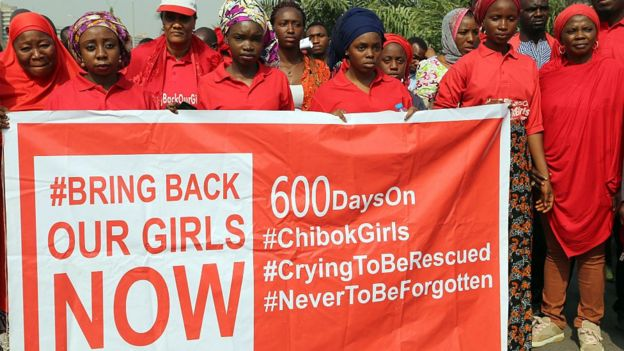 BringBackOurGirls campaigners in Abuja, Nigeria - January 2016