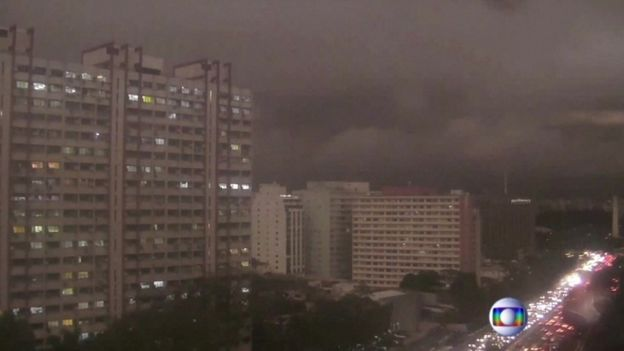 Sao Paulo darkened by smoke
