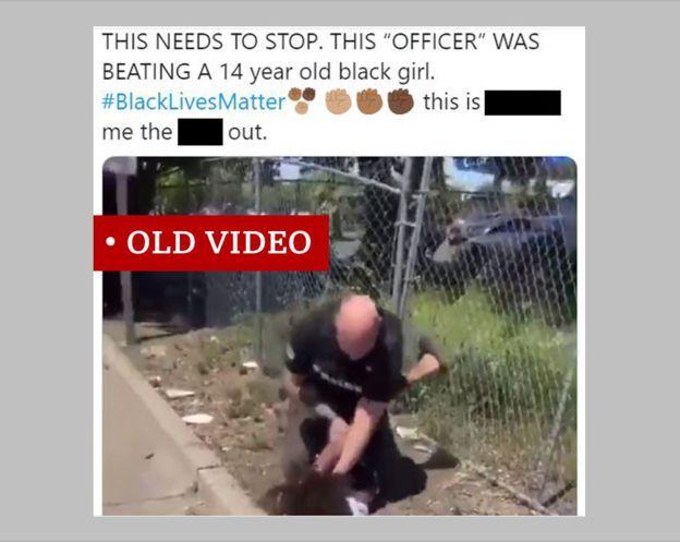 ویدئوی مربوط به نوجوانی که به طرز خشونت آمیزی از سوی پلیس دستگیر شده