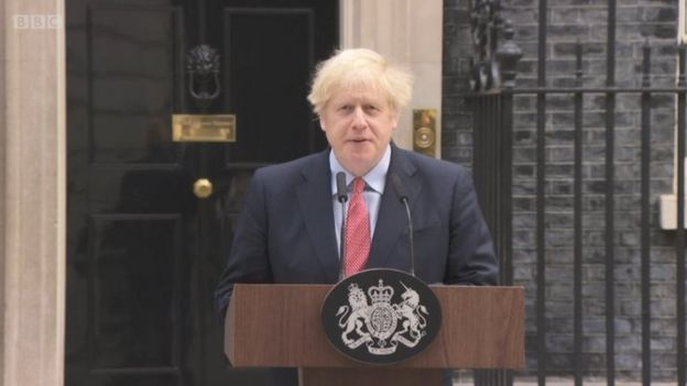Boris Johnson and his 'return to work' speech