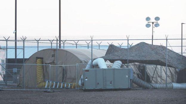Šatori u stanici američke granične kontrole, jun 2019