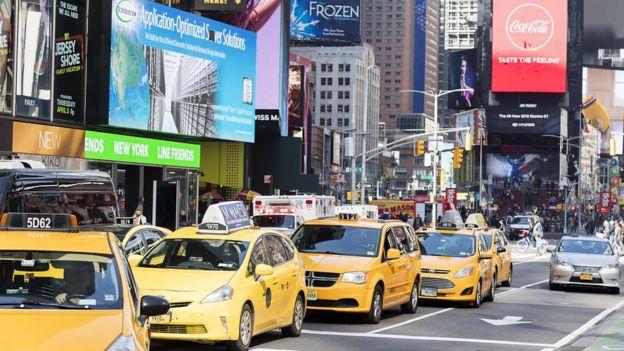 Nueva York lleno de taxis.
