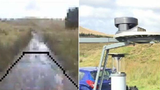 Cameras on Idris the robot