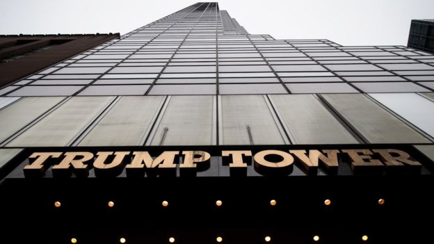 Trump Tower in New York City, 7 March 2017