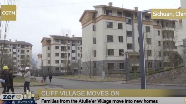 The new apartment blocks