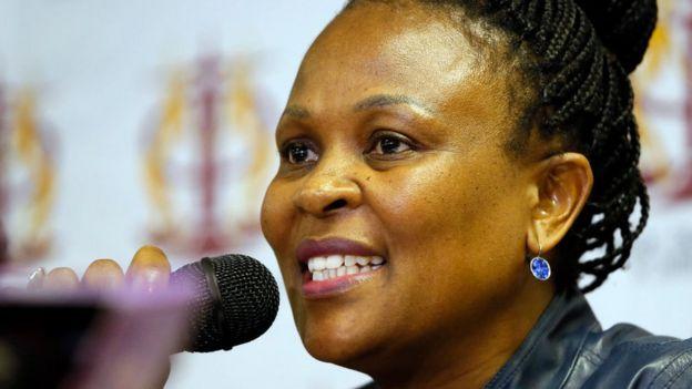La médiatrice de la République sud-africaine, Busisiwe Mkhwebane