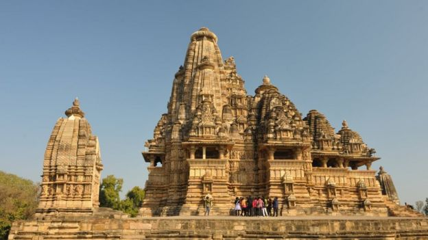 Khajuraho temples are a popular tourist destination