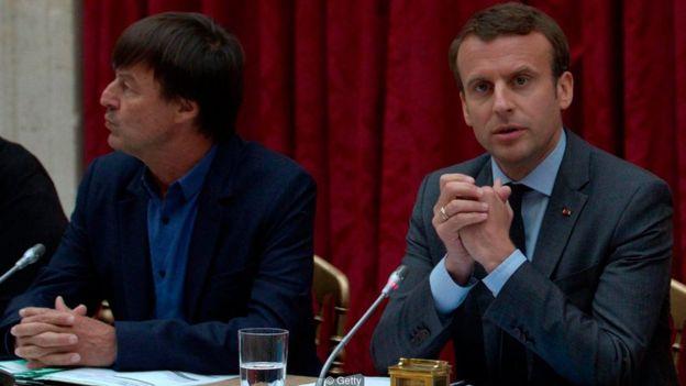 O presidente francês Emmanuel Macron