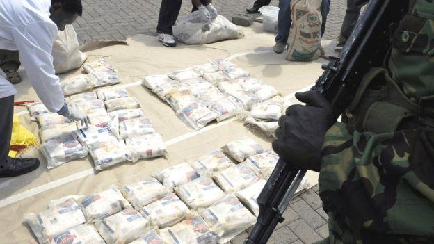 Carregamento de drogas apreendido no Quênia