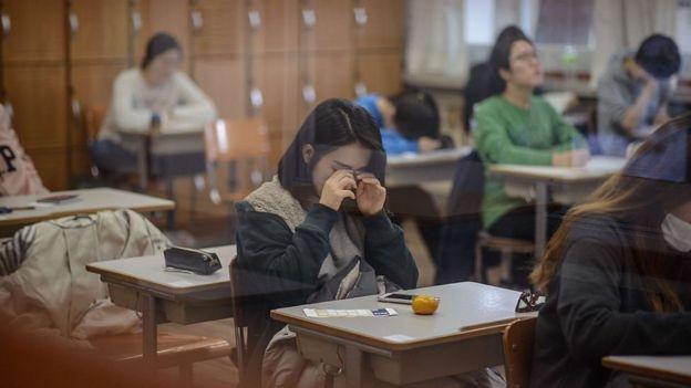 Sala de aula sul-coreana