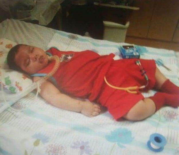 Ronei quando era bebê
